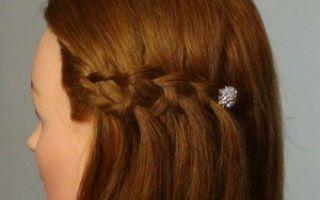 Прическа водопад: как плести французскую косу-фонтан, пошаговая инструкция, видео, фото колоска из коротких, средних, длинных волос с челкой и без, поэтапная схема плетения своими руками