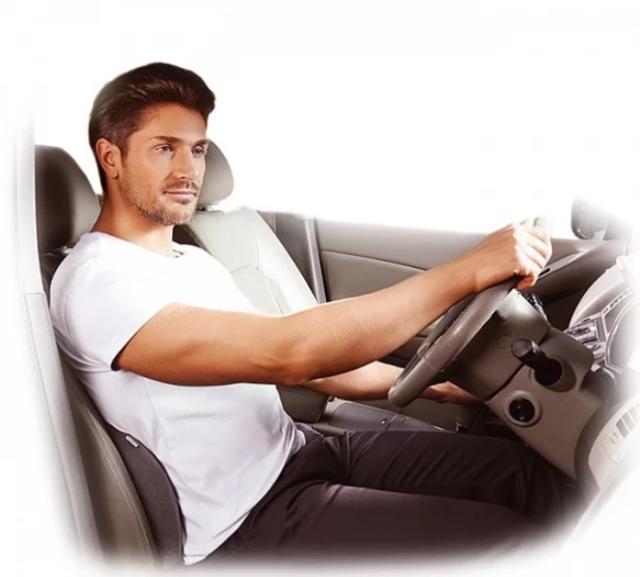Подушка под поясницу в автомобиль, виды поясничных упоров на водительское сидение