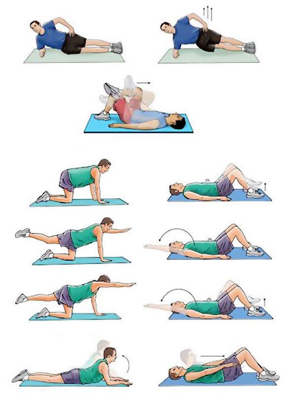 Лечебная гимнастика при грыже пояснично-крестцового отдела позвоночника, лечение упражнениями