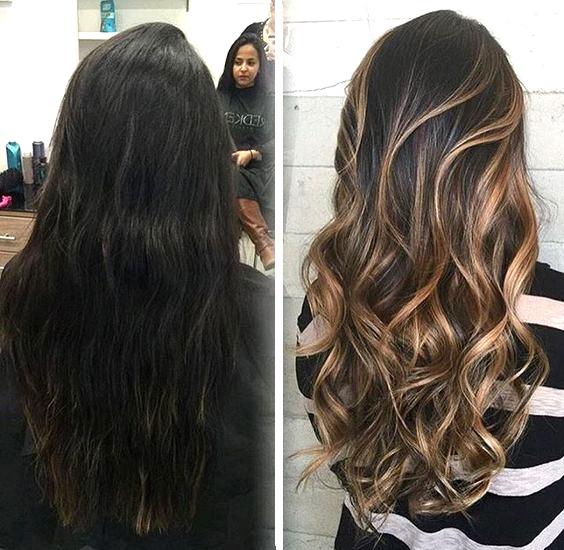 Техника окрашивания балаяж на длинные волосы, сколько стоит процедура и от чего зависит цена, фото причесок, полезное видео