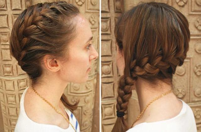 Коса на бок: как заплести прическу колосок сбоку самой себе на длинные, средние волосы, как сделать боковую пышную косичку на распущенные локоны, фото красивой свадебной укладки, кому подходит, пошаговая инструкция
