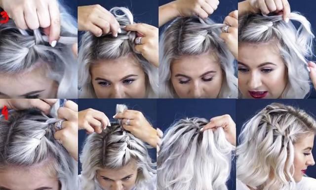 Косички на короткие волосы: фото красивого плетения мелких кос, простого колоска, на бок, на каре, схемы как заплести самой себе, детям в домашних условиях, видео, модные варианты для разного овала, типажа внешности