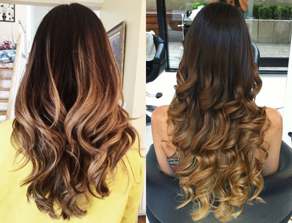 Омбре на длинные волосы: фото окрашивания на темные, русые, черные, рыжие, каштановые, прямые волосы, с челкой и без, сколько стоит процедура