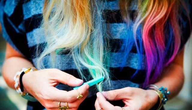 Как покрасить волосы мелками для волос, как правильно использовать мелки для временного окрашивания, фото и видео