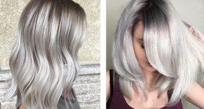 Седой цвет волос: фото оттенков (темно-серый, мышиный, дымчатый, серебристый и другие), как их получить в домашних условиях, обзор красок и оттеночных средств