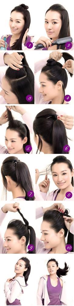 Хвост с начесом: как сделать красивую высокую прическу на макушке, фото пошагово на длинные волосы, как завязать низкий конский хвостик, кому подходит, способы укладки и фиксации, видео