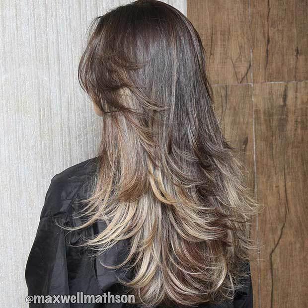 Лесенка на длинные волосы: фото стрижки с челкой и без, как стричь по всей голове, только спереди, вид сзади удлиненной прически, сколько стоит, техника выполнения на волнистые локоны, кому подходит