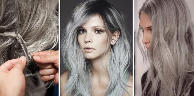 Пепельное мелирование: фото на темные, светлые, русые волосы, блонд, техники соль и перец, окрашиваний с серым цветом, седым, графитовым