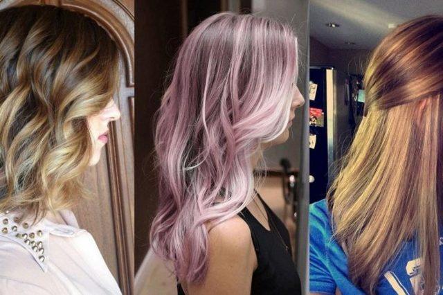 Колорирование на длинные и средние волосы: фото причесок, сколько стоит окрашивание