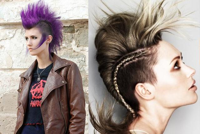 Прическа панка: стрижки в стиле стимпанк для девушек, как называются женские панковские укладки, кому подходят, как выполняются, характерные черты, примеры знаменитостей