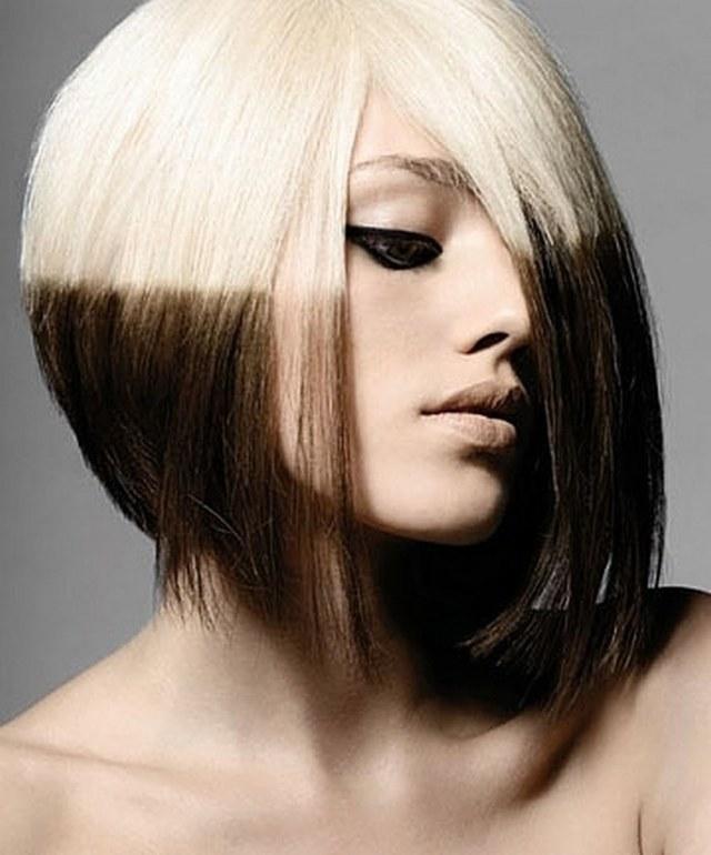 Омбре на короткие волосы, фото причесок с каре с удлинением и без, с челкой и без, окрашивание на темные, светлые, русые волосы в домашних условиях