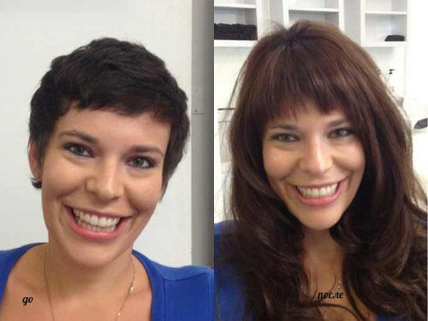 Наращивание волос на короткие волосы: фото до и после, можно ли сделать на стрижку, минимальная длина для этого, цена, видео, отзывы