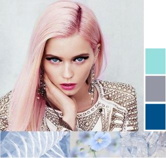 Цветное мелирование: рыжее, темное, синее, красное, белое, розовое, карамельное, шоколадное, фиолетовое, фото окрашивания волос с цветными прядями