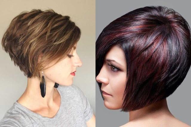 Окрашивание на короткие волосы, покраска каре с удлинением и без, прически боб, креативная окраска, фото новинок, как можно покрасить короткие волосы