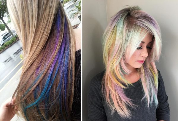 Колорирование на светлые и русые волосы: фото на короткие, длинные, средней длины, какие цвета лучше всего подобрать блондинкам, подойдет ли им цветное окрашивание, как сделать в домашних условиях