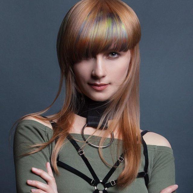Скрытое окрашивание нижних волос: что такое потайное окрашивание нижнего слоя волос, кому подходит радуга под волосами, техника внутреннего окрашивания, фото