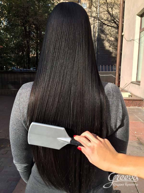 Японское выпрямление волос, отличия от кератинового, фото до и после, отзывы