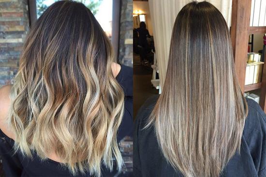Окрашивание балаяж на темные волосы: как сделать для коротких, каре, средней длины, длинных волос, с челкой и без, техника покраски балаяж на прямые, черные, коричневые, каштановые волосы, как сделать в домашних условиях, фото результата для брюнеток