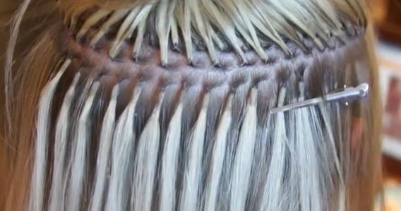 Испанское наращивание волос