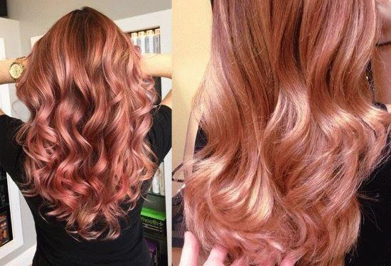 Розовая краска для волос: какую купить для получения оттенка золото, дерево, блонда, жемчуга и других, фото оттенков estel, Лореаль, Гарньер и тп, обзор временных быстро смываемых красителей
