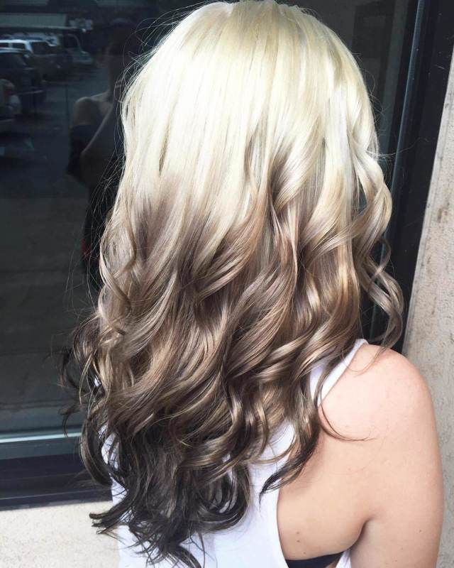 Омбре на темные, черные, светлые и русые волосы средней длины волосы, стоимость и виды окрашивания омбре на волосы до плеч, фото