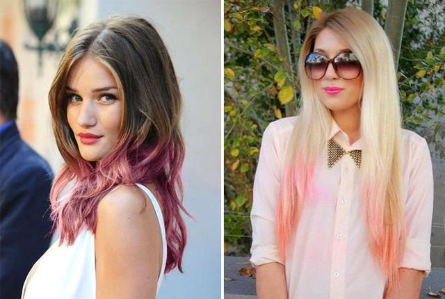 Розовое омбре: как сделать розовым цветом, кому подходят розовые волосы амбре, варианты и особенности окрашивания, фото