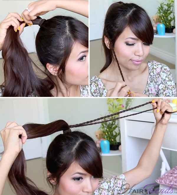Пучок с косичкой: коса с плетением снизу вверх, прическа с двумя гульками вокруг и сзади, кому подходит, как выполнить самостоятельно, пошаговая инструкция, фото знаменитостей