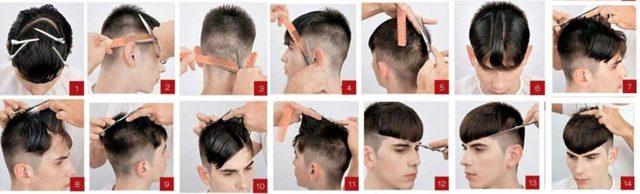 Стрижка шапочка мужская: фото прически под горшок с плавным переходом, вояж для мужчин на средние, короткие волосы с челкой и без, технология и схема, видео как стричь, кому подходит, способы укладки, звездные примеры
