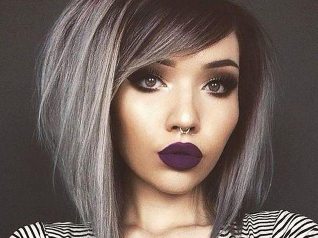 Пепельный балаяж: особенности окрашивания серым цветом на светлые и темные волосы, кому подходит, фото