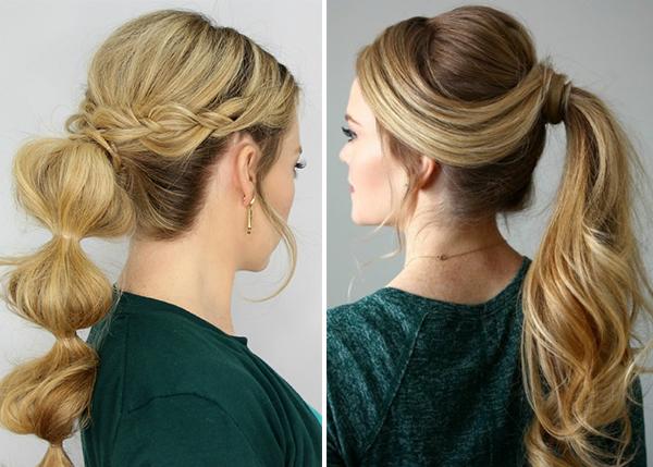 Как сделать объемный хвост на голове: пышная, двойная прическа на длинные, средние волосы, фото красивого конского хвостика с объемом у корней, на макушке, пошаговая инструкция, кому подходит
