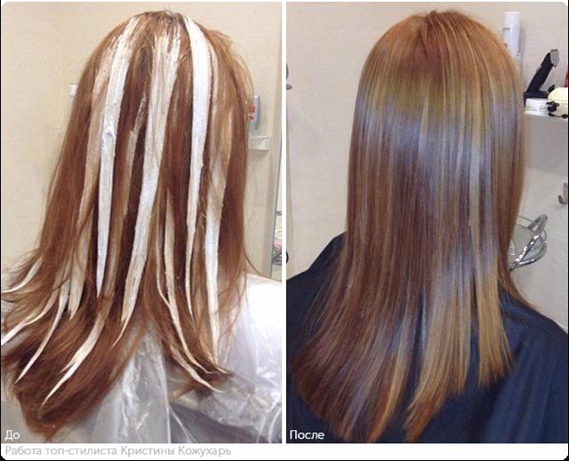 Французское мелирование мажимеш: фото до и после, отзывы, экспресс-метод окрашивания на русых и темных волосах, с челкой и без, техника выполнения